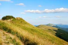 Βουνά Bieszczady, Polonina Wetlinska Στοκ Φωτογραφία