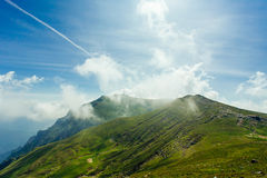 Βουνά Bucegi, ο σταυρός Caraiman στοκ φωτογραφίες με δικαίωμα ελεύθερης χρήσης