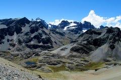 Βουνά Condoriri, Άνδεις, Βολιβία Στοκ Εικόνες