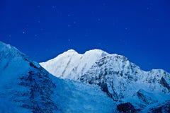 Βουνά Gangapurna και Annapurna Στοκ φωτογραφίες με δικαίωμα ελεύθερης χρήσης