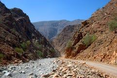 Βουνά Hajar στοκ εικόνες