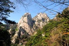 Βουνά Huangshan Κίνα Στοκ εικόνες με δικαίωμα ελεύθερης χρήσης