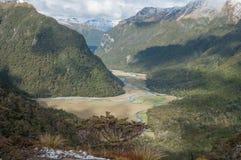 Βουνά Humboldt από τη διαδρομή Routeburn Στοκ Εικόνες