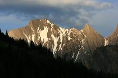 βουνά kananaskis πτυχών χωρών Στοκ Εικόνα