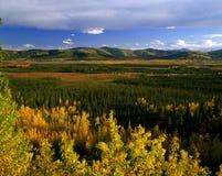 Βουνά Klondike σε Yukon, Καναδάς Στοκ Εικόνες