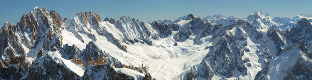 Βουνά, mon-Blanc, Chamonix, Γαλλία, αλπική, αλπινισμός, ταξίδι, οικολογία, Στοκ Φωτογραφίες