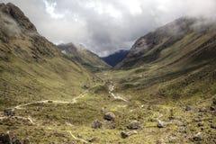 Βουνά Salkantay του Περού στοκ εικόνα