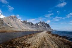 Βουνά Stokksnes σημείο της Ισλανδίας Στοκ Φωτογραφία