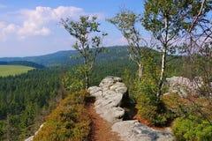 Βουνά Stolowe στη Σιλεσία Στοκ φωτογραφία με δικαίωμα ελεύθερης χρήσης