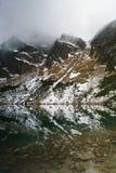 Βουνά Tatry μια αξιοπρόσεκτη αντανάκλαση στο νερό Στοκ Εικόνα