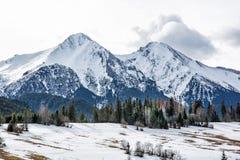 Βουνά Tatry Belianske το χειμώνα, Σλοβακία Στοκ εικόνα με δικαίωμα ελεύθερης χρήσης