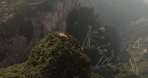 Βουνά Tianmen σε Zhangjiajie φιλμ μικρού μήκους