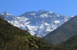 Βουνά Toubkal ατλάντων του Μαρόκου Στοκ εικόνες με δικαίωμα ελεύθερης χρήσης