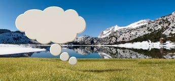 Βουνά Tramuntana και σύμβολο φαντασίας Στοκ Εικόνα