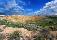 βουνά ustyurt του Καζακστάν φαραγγιών Στοκ Φωτογραφία