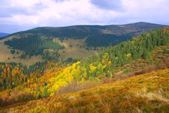 βουνοπλαγιά φθινοπώρο&upsilon Στοκ Φωτογραφίες