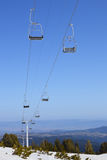 Βουνοπλαγιά με chairlift Στοκ Φωτογραφίες