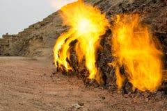 Βουνό Αζερμπαϊτζάν πυρκαγιάς Στοκ Εικόνες