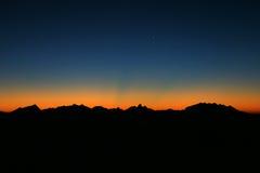 βουνό ανασκόπησης Στοκ Εικόνες
