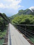 Βουνό απαρατήρητη Ταϊλάνδη καρδιών γεφυρών σχοινιών Στοκ Φωτογραφία