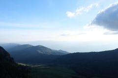 Βουνό βράχου στην Ταϊλάνδη, φως στοκ φωτογραφία