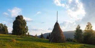 βουνό βραδιού Στοκ Φωτογραφίες