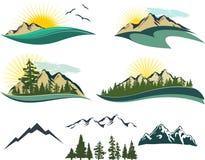 βουνό εικονιδίων απεικόνιση αποθεμάτων