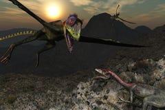 Βουνό δεινοσαύρων Στοκ Εικόνες