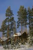 βουνό εξοχικών σπιτιών Στοκ Εικόνες
