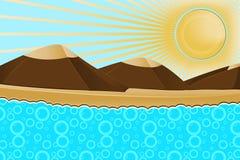 Βουνό θάλασσας Απεικόνιση αποθεμάτων
