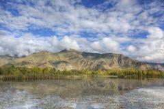 βουνό Θιβέτ τοπίων λιμνών Στοκ φωτογραφίες με δικαίωμα ελεύθερης χρήσης
