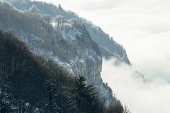 Βουνό και ομίχλη Στοκ Εικόνα