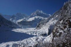 Βουνό και παγετώνας χιονιού Στοκ εικόνες με δικαίωμα ελεύθερης χρήσης