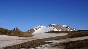 Βουνό και παγετώνας Kerlingarfjöll Στοκ Εικόνα
