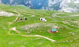 Βουνό και πράσινο τοπίο του Μαυροβουνίου Στοκ φωτογραφία με δικαίωμα ελεύθερης χρήσης