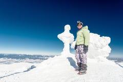 Βουνό, κορυφή, ορειβάτης στοκ εικόνες