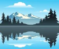 βουνό λιμνών διανυσματική απεικόνιση