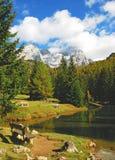 βουνό λιμνών filzmoos της Αυστρία&si Στοκ Φωτογραφία
