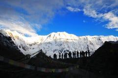 βουνό Νεπάλ Στοκ Φωτογραφίες