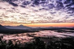Βουνό ομίχλης στην Ταϊλάνδη Στοκ Εικόνα