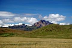 Βουνό ορεινών περιοχών στην οικολογική επιφύλαξη Antisana, Ecaudor Στοκ Εικόνα