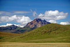 Βουνό ορεινών περιοχών στην οικολογική επιφύλαξη Antisana, Ecaudor Στοκ Φωτογραφίες