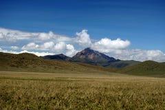 Βουνό ορεινών περιοχών στην οικολογική επιφύλαξη Antisana, Ecaudor Στοκ Εικόνες