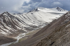 Βουνό πάγου από το πέρασμα Λα Khardung Στοκ φωτογραφία με δικαίωμα ελεύθερης χρήσης
