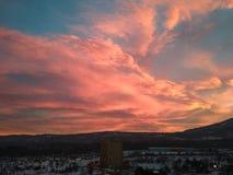 βουνό πέρα από το ηλιοβασί&lamb Στοκ φωτογραφία με δικαίωμα ελεύθερης χρήσης
