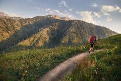 βουνό πεζοπορίας στοκ εικόνες