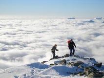 βουνό πεζοπορίας Στοκ Φωτογραφίες