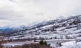 Βουνό πλευρικό κάλυψη στο χιόνι στοκ φωτογραφία με δικαίωμα ελεύθερης χρήσης