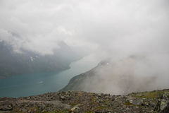 Βουνό που στη Νορβηγία Στοκ Φωτογραφίες