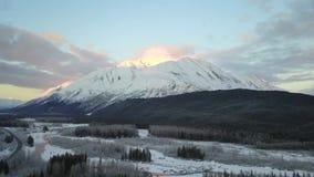 Βουνό προβάτων στην Αλάσκα απόθεμα βίντεο